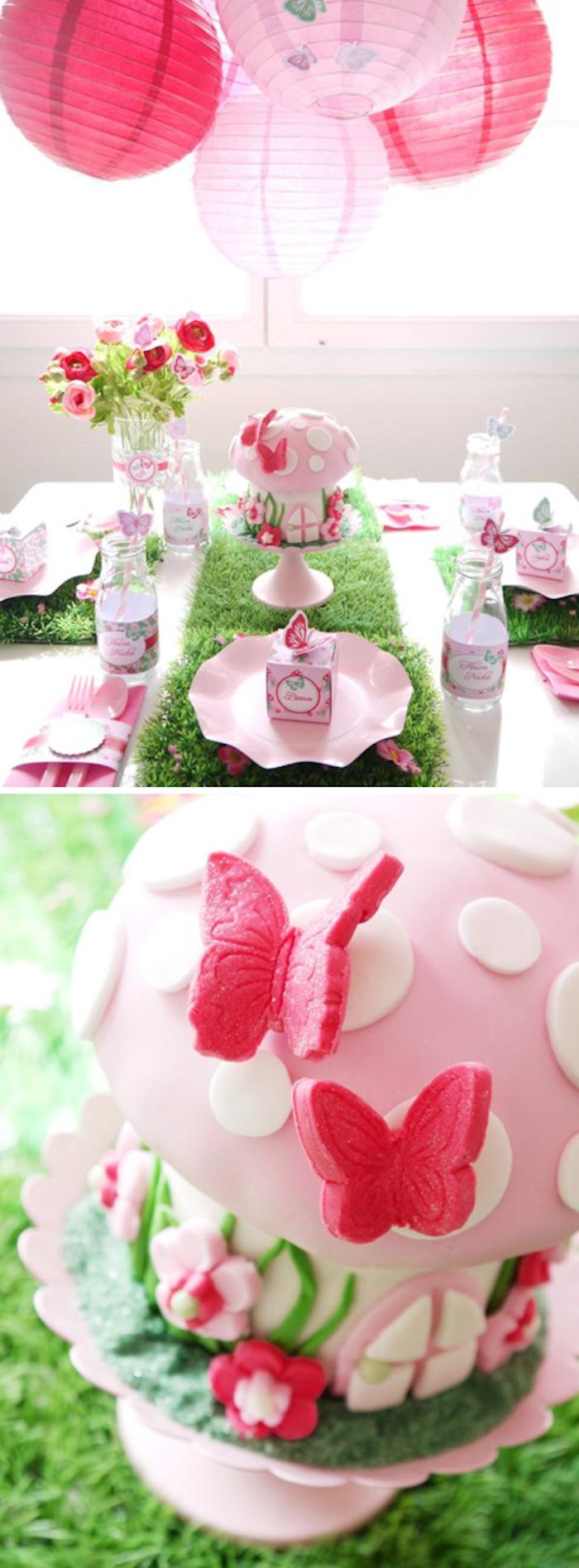 Pixie Fairy Pink Girl Birthday Party Planning Ideas