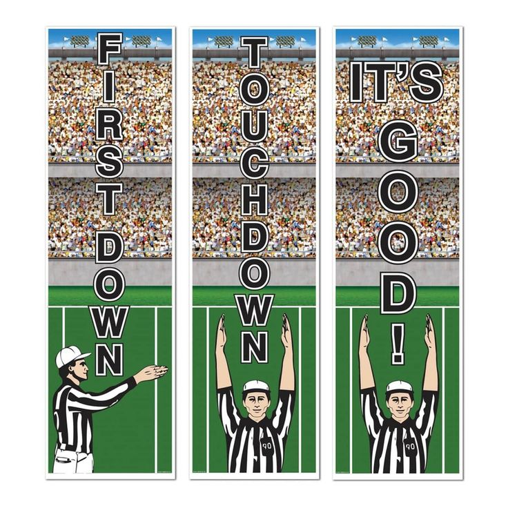 Club Pack of 36 Football Referee Sports Themed Cutout Party Banners 20, Black