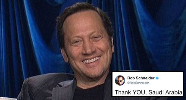 Rob Schneider has posted a tweet that will remind you why you love Rob Schneider so much.