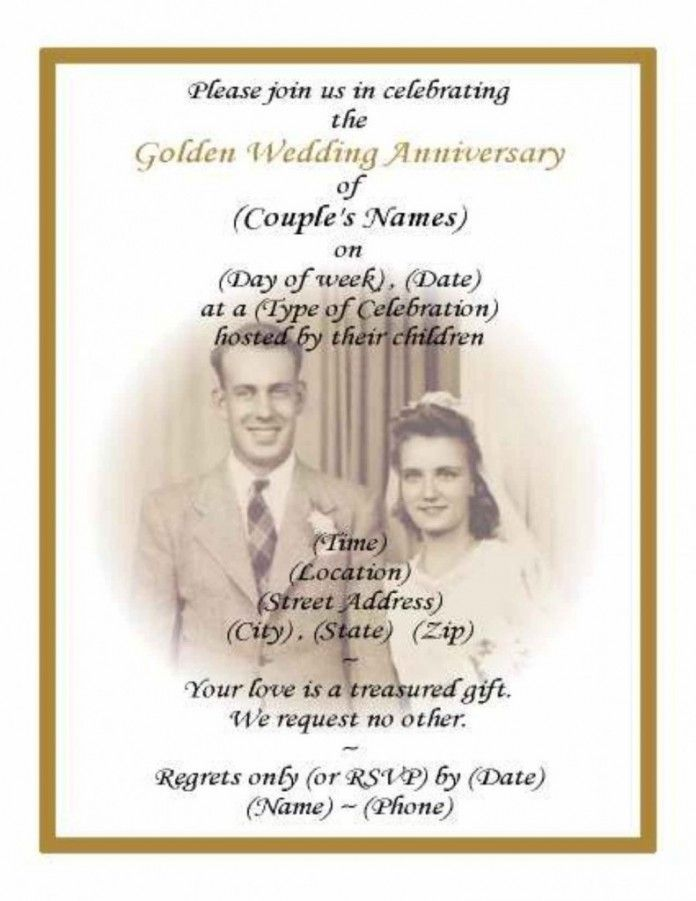 12 best 50Th Anniversary Party images on Pinterest Wedding - invitation quotes for freshers party