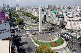 Obelisco y avenida 9 de Julio