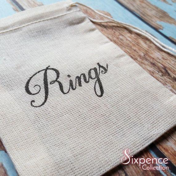 Wedding band rings bag. Ring pillow alternative ring bearer