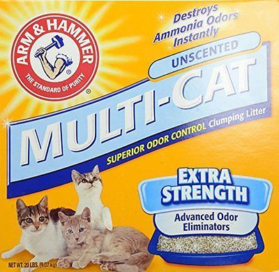 Arm & Hammer Multi-Cat Strength Clumping Litter, Unscented, 20-Pounds