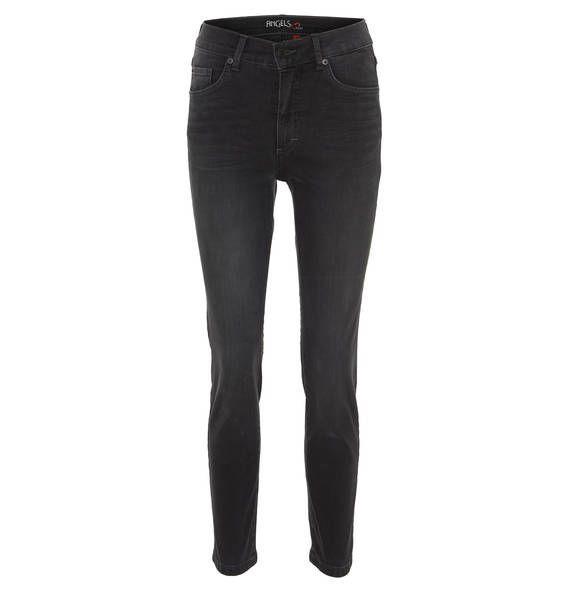 Jeans im figurbetonten Skinny Fit für Damen von ANGELS, die sich mit ihrer Used-Waschung und den Nieten im rebellischen Look zeigt. Bequem dank Stretch-Anteil. Preis: 89,95 €