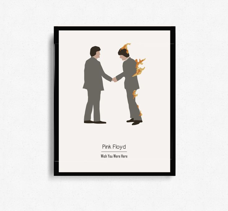 Pink Floyd 'Wish You Were Here' Album Cover - Music Inspired Art