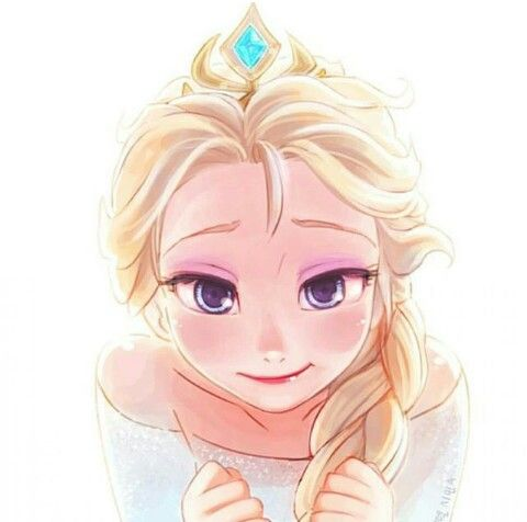 Elsa with her crown