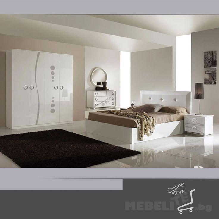 Спални комплекти : Спален комплект METROPOLIS BIANCO 4A