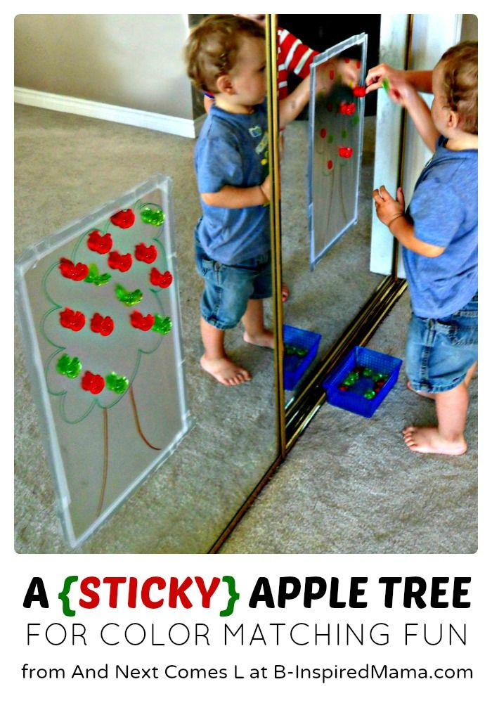 A {STICKY} Apple Tree Activity Perfect for Preschool Kids [Contributed by And Next Comes L]