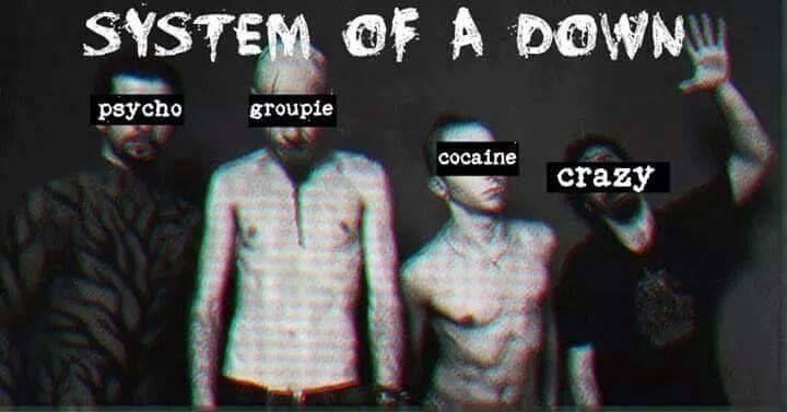 S.O.A.D. System of a down. Serj Tankian. Daron Malakian. John Dolmayan. Shavo Odadjian.