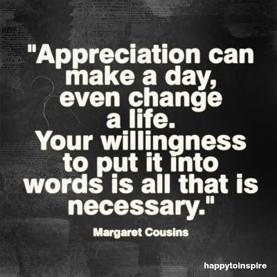 employee appreciation quotes and sayings | Quote of the Day: Appreciation can make a day