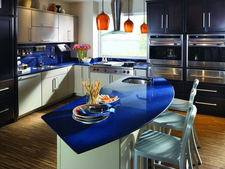 Beautiful Blue Quartz Countertops New Countertop Trends Counter Tops Back Splash Blue