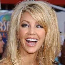 Side swipe bangs are always a good idea...  Heather Locklear