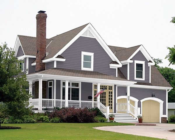 this color i especially like the contrasting garage doors on house paint color combinations exterior id=40042