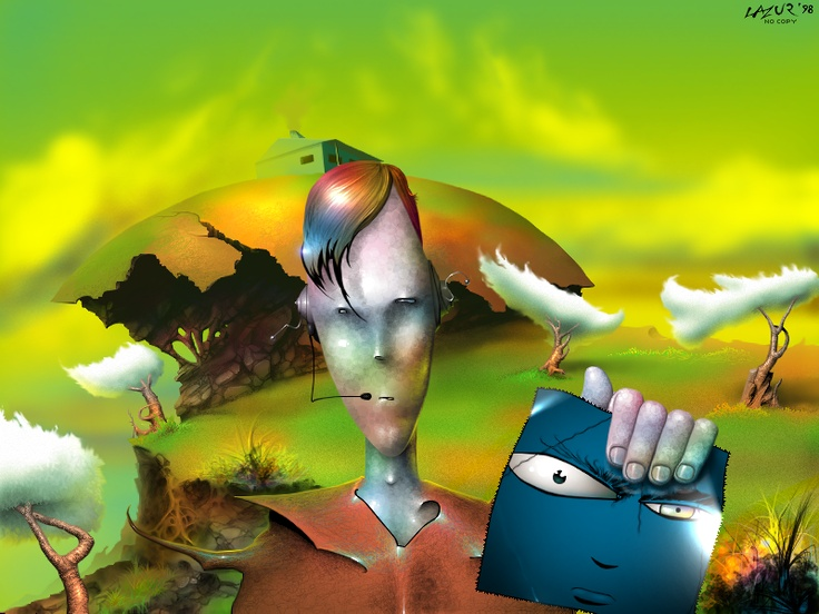 Demoscene and Fantasy green planet