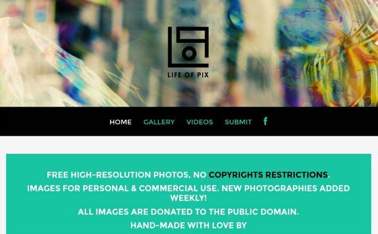 Life Of Pix es un sitio que reúne una genial colección de fotografías de dominio público en alta resolución. Podemos usarlas en cualquier clase de proyecto.
