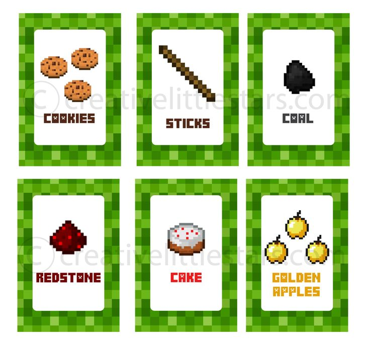 Make your party super fun with these Minecraft Inspired Party Food Printable Labels. Decorate your party with these pixel food labels. x24 4″x6″ labels I drew all the images from scratch, then coloured them with photoshop. I do not sell or claim ownership over the licensed characters that I have depicted in my completely original …