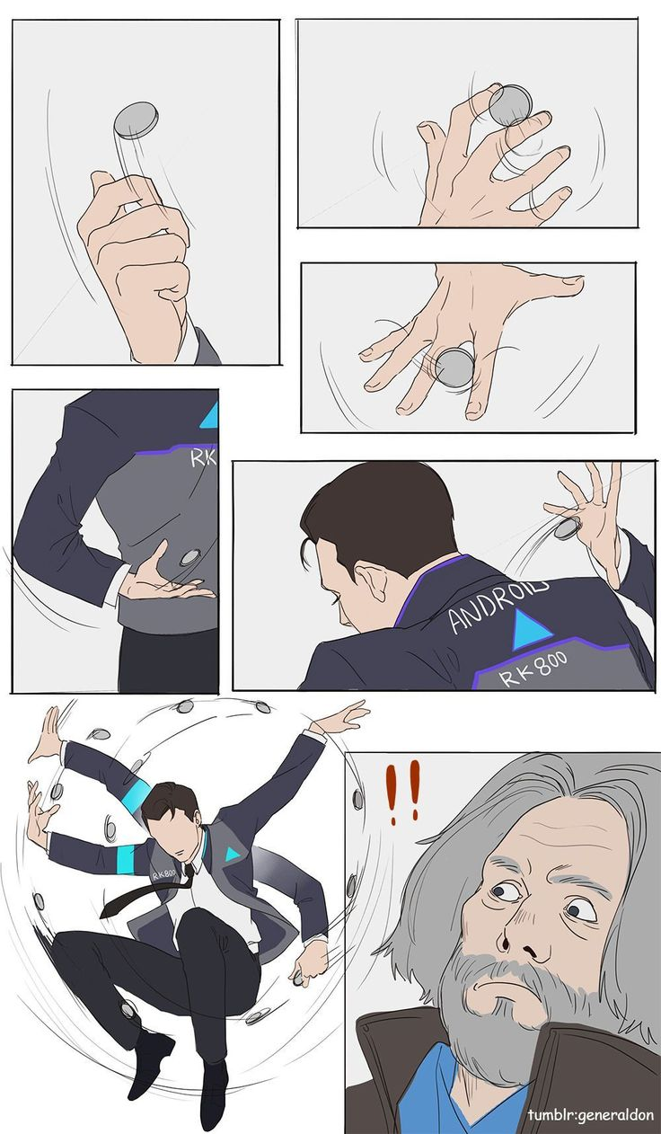 Detroit Become Human meme {and fanart} book ✔ – last one I promise
