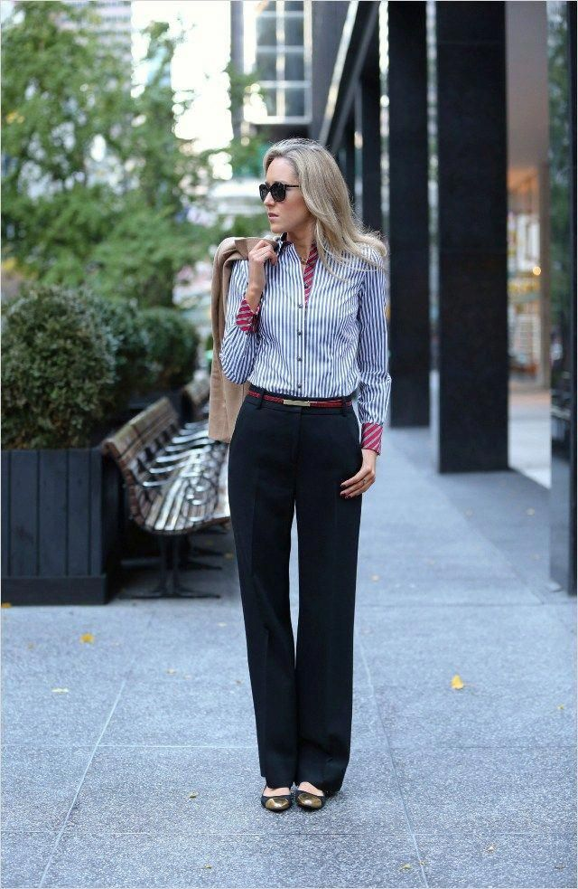 2ef1182775 45 Beautiful Work Outfit Ideas for Women In Flats 92 What to Wear to A Job  Interview – 17 Interview Outfit Ideas – Glam Radar 5  whattowear