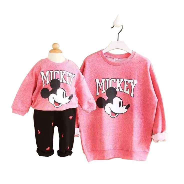 New Spring Autumn Family Matching Outfits Mother And Daughter Clothes Cotton Letter Printing Fashion Parent-child Hoodies