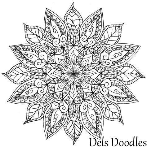Mandala Book Coloring Mehndi Designs Hennas Dibujo Mandalas Strange Things Flower