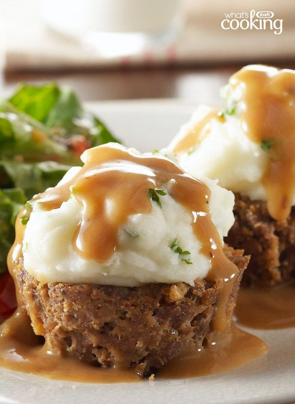 Potato-Topped Mini Meatloaves #recipe