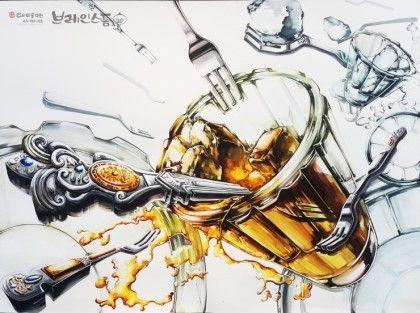 [기초디자인] 주제-포크, 유리컵 브레인스톰 안산입시미술학원 www.facebook.com/ansanbrainstorm/ blog.naver.com/yjkimlee7374
