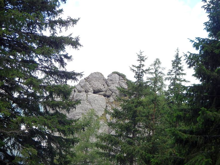 Bucegi Mountains. The Stonemen kiss