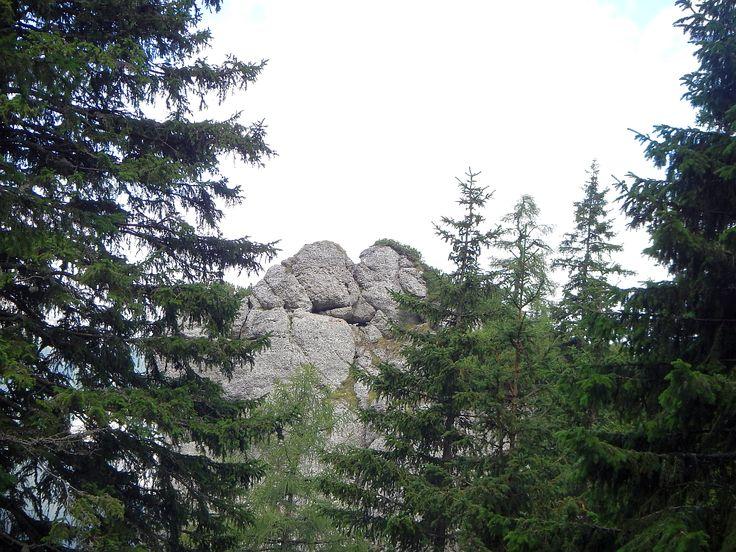 Bucegi Mountains. The Stonemen kiss
