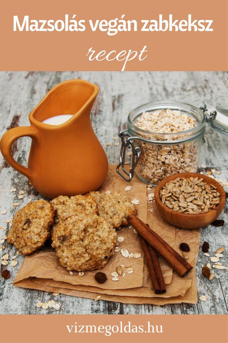 Cukormentes sütik, finomságok - Mazsolás vegán zabkeksz