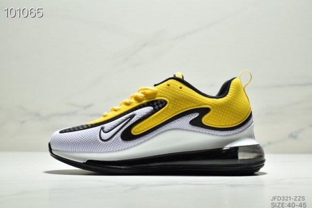 Nike Air Max 720 Black White Yellow Men S Footwear Running Shoes