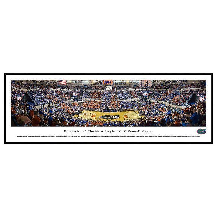 Florida Gators Basketball Arena Framed Wall Art, Multicolor