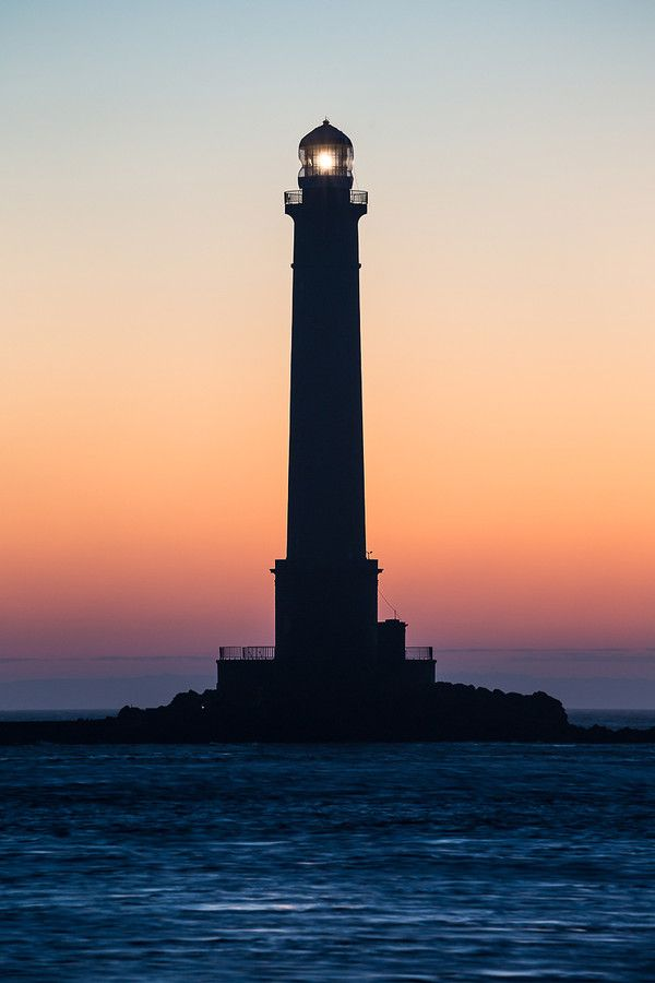 Goury sunrise by yves L. - Lighthouse of Goury, in north west cap of Cotentin. Normandy