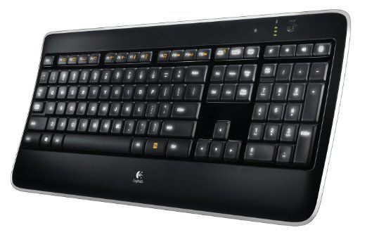 Logitech Wireless Illuminated Keyboard K800 Clavier sans-fil AZERTY Rétroéclairé Noir