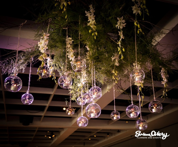 Hanging gardens @ Doltone House by Susan Avery Flowers and Events.