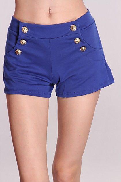 Royal Blue Marching Band Shorts