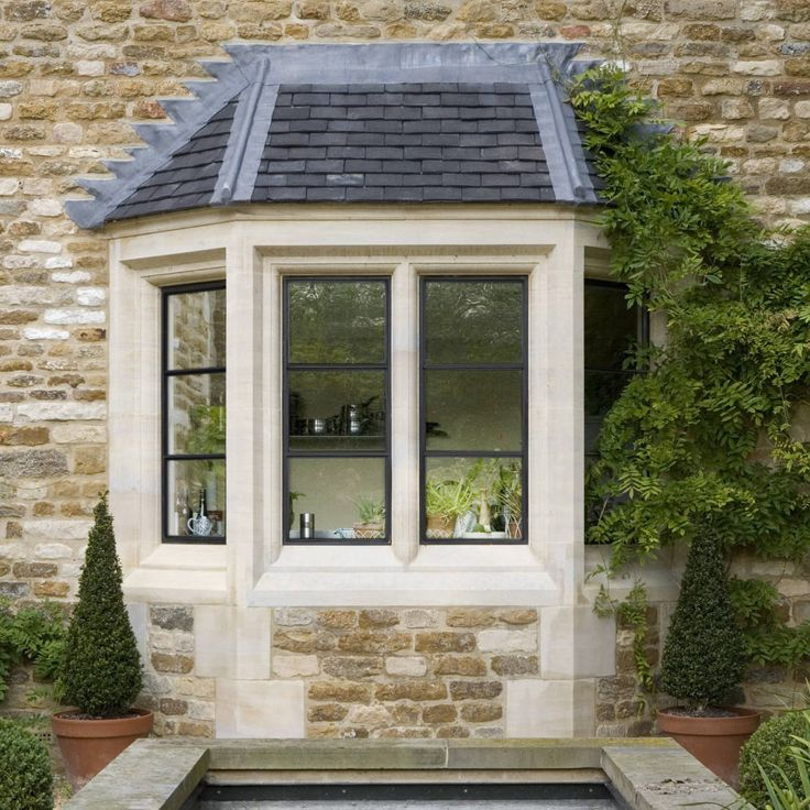 183 best images about front of house on pinterest for Bay window exterior designs