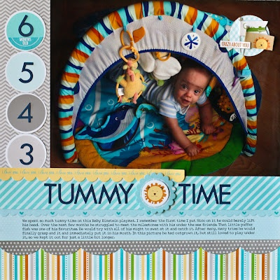 The Paper Orchard: Nancy Damiano, Scrapbook Ideas, Paper Orchards, Tummy Time, Baby Layout, Scrapbook Layout, Baby Scrapbook, Scrapbook Baby, Nancydamiano