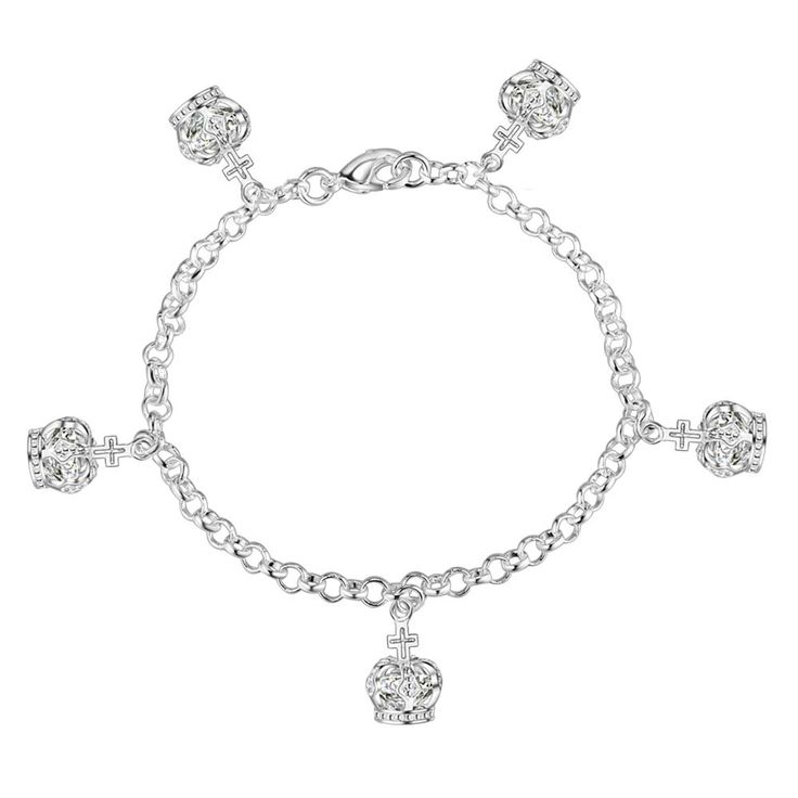 Aliexpress.com : Buy crown elegant Wholesale silver plating bracelet, Silver plated fashion jewelry /JRMZIQXC PLBWIPIP from Reliable jewelry gold bracelet suppliers on yinfen guo's store
