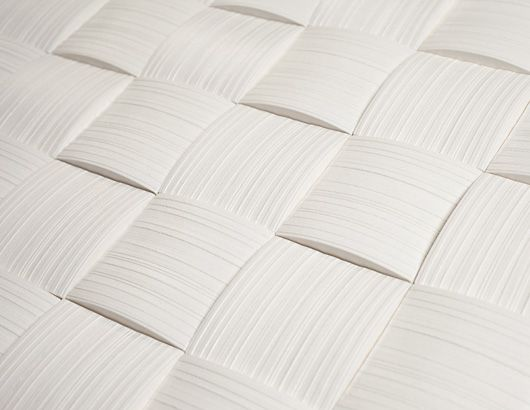Päre is a ceramic tile that has been inspired by traditional Finnish baskets weaved from wood shingles. Marjukka Takala