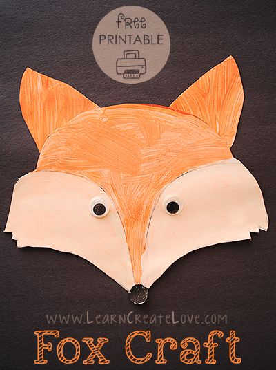 Printable Fox Craft