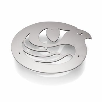 "Trivet ""Sanctuary"" by Holly Birkby for Carrol Boyes. Stainless steel, designed and manufactured in South Africa."