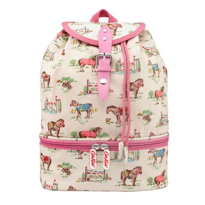 Pony Kids Compartment Backpack | Keep things in place with our kids compartment backpack in our Pony print. A special base compartment is perfect for food, and the drawstring opening is easy to get open and closed. Adjustable straps will change as they grow | Cath Kidston |