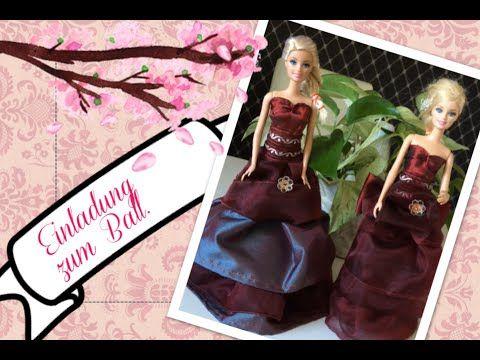 Barbie Ballkleid selber nähen - YouTube