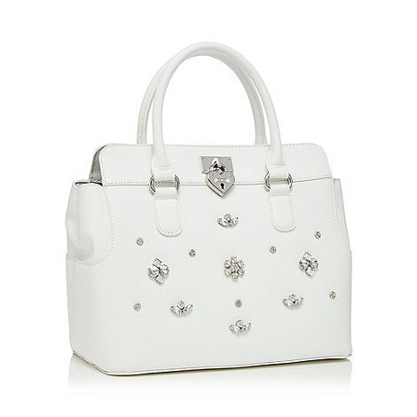 Floozie by Frost French White gem detail tote | Debenhams