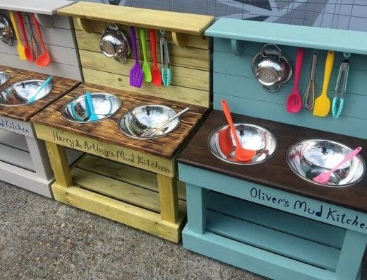 70 Inspirational DIY Ideas for Kids Pallet Mud Kitchens – kids 'n all