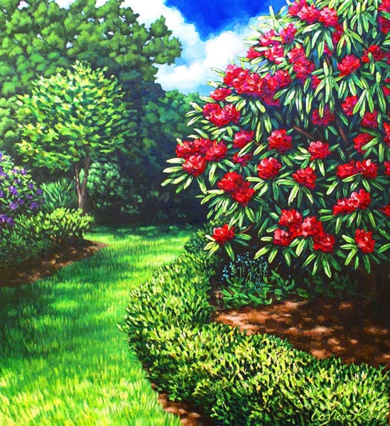 Pathway from the Lush series by New Zealand artist Caz Novak