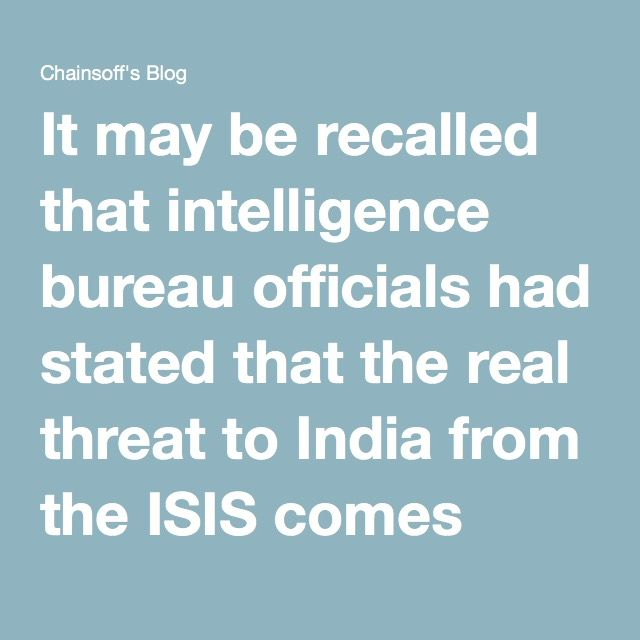 It may be recalled that intelligence bureau officials had stated that the real threat to India from the ISIS comes from Bangladesh. Read More: ISIS threat in India emerges not from Pakistan, but Bangladesh and West Bengal He says in the interview that the idea is to liberate India from the disbelievers or the mushikirins.  Rid India of disbelievers: Hanif spells out the plan that they have for India. This man who is the head of the ISIS in this part of the world says that they are training…