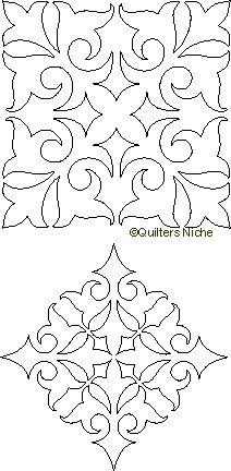 SCF-098 French Swirl Quilting Motif xxx