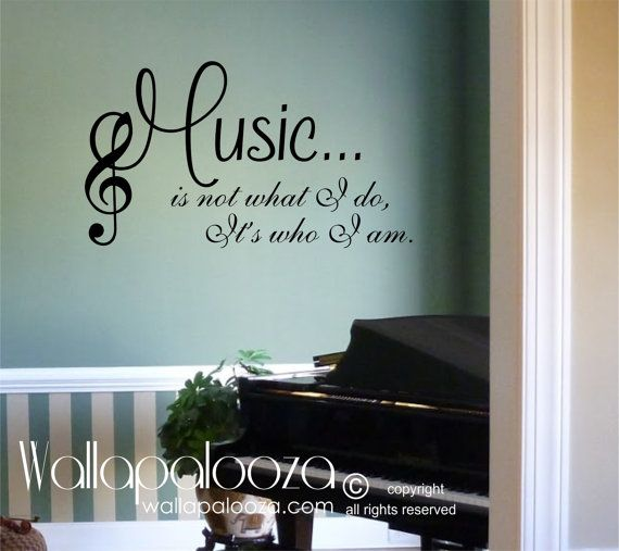 Music Wall decal  Music wall sticker  Music by WallapaloozaDecals, $20.00