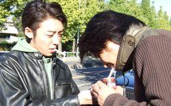 増本庄一郎うぇぶ--3Wトーク--: 駒沢公園で高橋一生さんと(プチッと)ツーリングしました!!